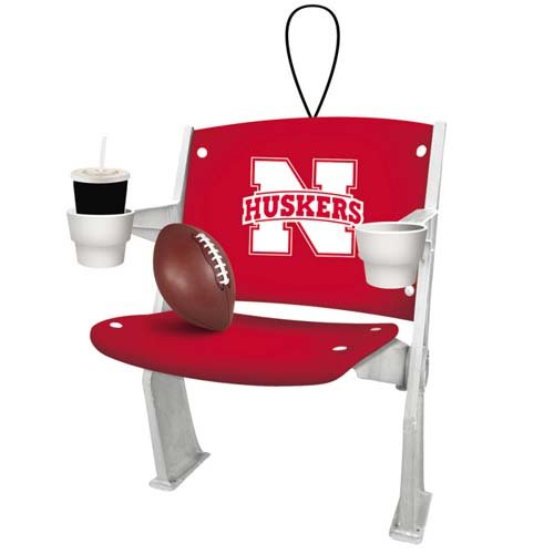 Evergreen Nebraska Cornhuskers Stadium Chair Ornament