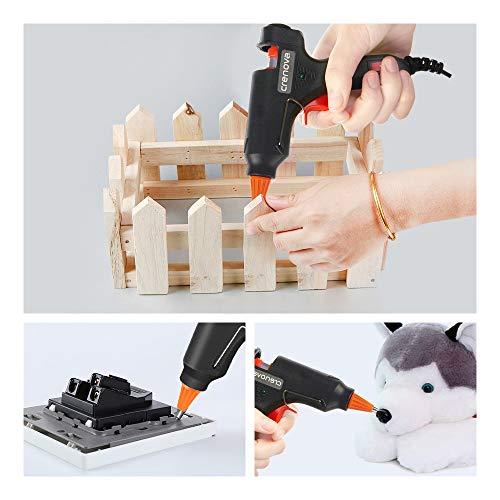 CRENOVA Hot Glue Gun, Glue Gun Kit with 60pcs Glue Sticks, High Temperature Melting Mini Glue Gun for DIY Small Projects, Arts and Crafts, Home Quick Repairs,Artistic Creation(20 Watts) by CRENOVA (Image #5)