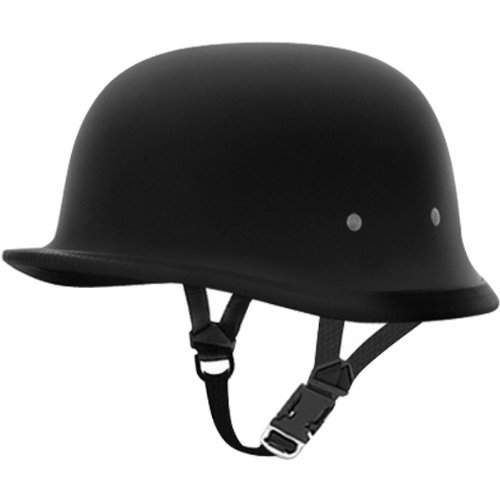 Daytona German Basic/Custom Novelty Cruiser Motorcycle Helmet – Dull Black / Medium