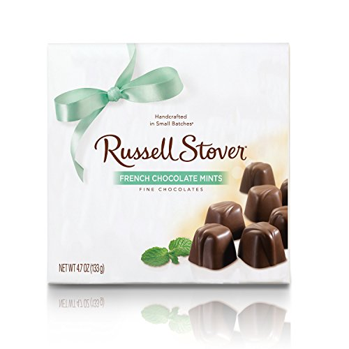 Russell Stover French Chocolate Mints, 4.7 Ounce Box