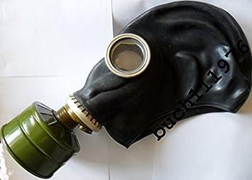 Tamaño de goma máscara de Gas GP-5 Ruso Negro ejército soviético nuevo, 0
