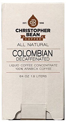Decaffeinated Cold Brew Or Hot High Yield Liquid Coffee Concentrate 64 Ounce Bag In Box With Shcolle Connector