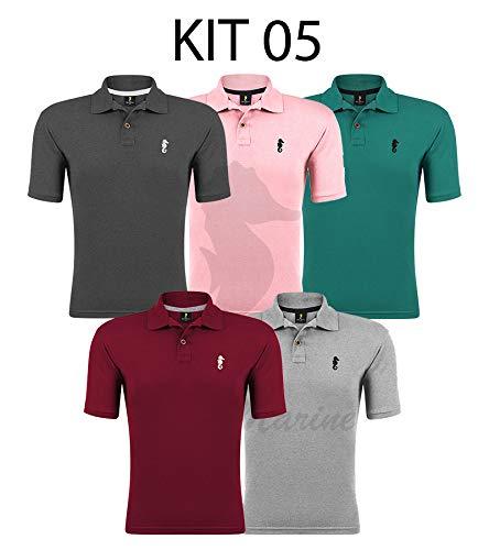 Kit 05 Camisetas Gola Polo - Polo Marine (Kit 05, G)
