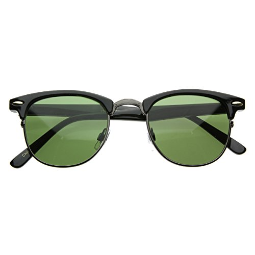 Vintage Half Frame Semi-Rimless Horn Rimmed Style Classic Op