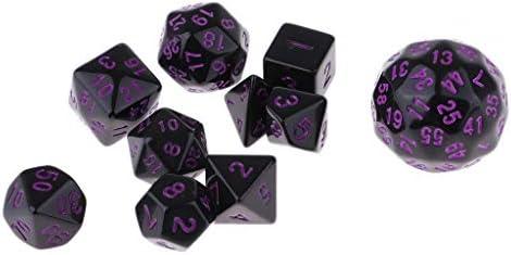Baoblaze Juegos de Dados de 10 Piezas Dados Multifacéticos para Jugar a Mazmorras y Dragones - Púrpura: Amazon.es: Juguetes y juegos