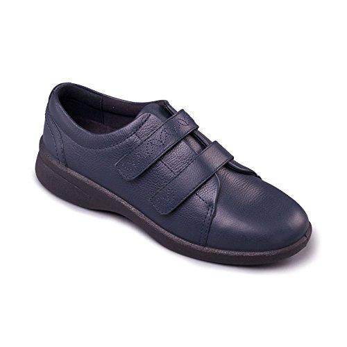 Y Cuerno Adicional Libre Mujeres eeee Doble Ancho 2' Anchura Ajuste 'revive Zapato Sistema Con Zapatos Hondo Gran Eee Padders De Marina Cuero 0ZgURR