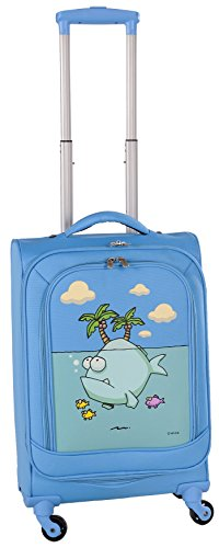 ed-heck-big-fish-spinner-luggage-21-inch-sky-blue-one-size