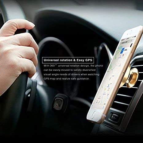 Baseus 4336707730 Paste Type Magnetic Phone Holder for Car 360 Degree Rotation Smartphone Stand on Car Dashboard for iPhone Samsung and Other Mobiles Black