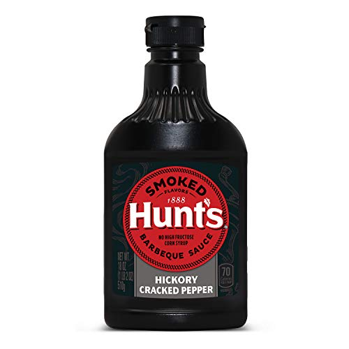 Hunt's Barbeque Sauce Classic Hickory Cracked Black Pepper, 18 oz