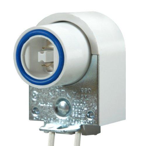 T8 or T12 HO/VHO - Plunger Lampholder - Recessed Double Contact Socket - PLT - Contact Recessed Double T12
