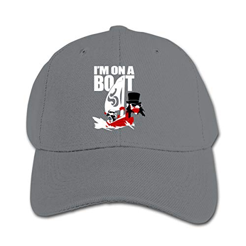Kids Girls Boys I'm On A Bolt Pirate Ship Flat Brim Pure Baseball Cap Outdoor Sports