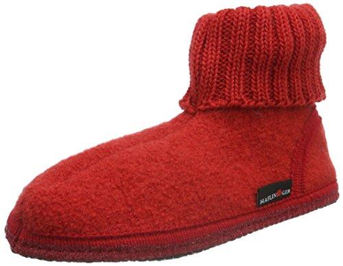 Haflinger Karl 631047K - Zapatillas de casa de tela para niños Rojo - Rot (Rubin 11)