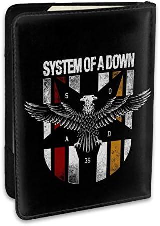 System Of A Down システム・オブ・ア・ダウン パスポートケース メンズ 男女兼用 パスポートカバー パスポート用カバー パスポートバッグ ポーチ 6.5インチ高級PUレザー 三つのカードケース 家族 国内海外旅行用品 多機能