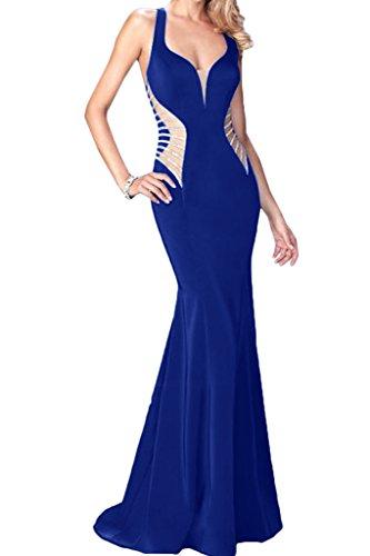 Lang Festkleid Ballkleid Royalblau Linie Damen Abendkleid Chiffon Partykleid Etui Ivydressing Modisch Promkleid f47OxnzxX