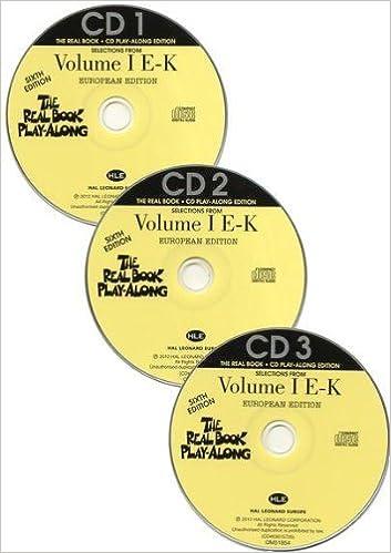 Hal Leonard The Real Book Playalong E-K Sixth Edition Vol.1 3 CDs