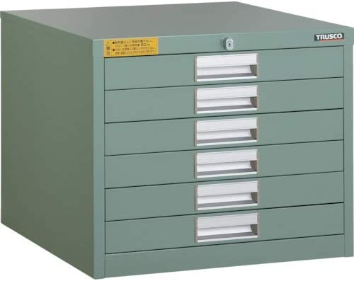 TRUSCO LVE型キャビネット 500X550XH420 引出6段 LVE425