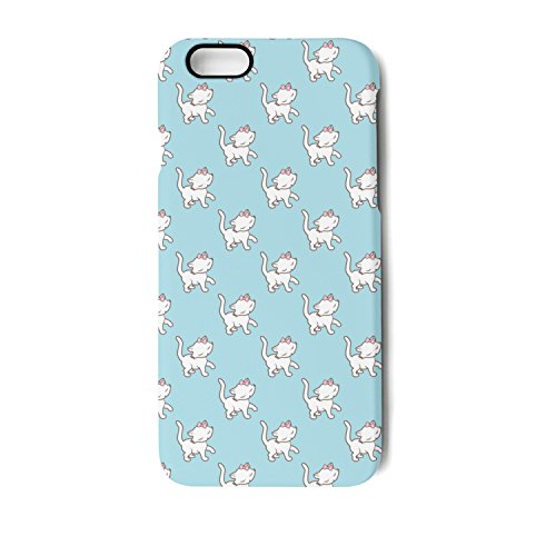 (IPhone 6/6s Case Cute Kitten Cats Blue Background Bumper Matte TPU Soft Rubber Silicone Protective Back Cover)