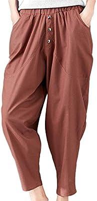 Logobeing Pantalones Mujer Pantalones Sueltos Pantalones de ...