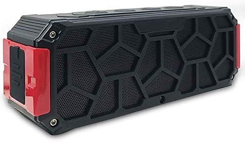 IPX7防水ポータブルBluetoothベーススピーカーホーム高音質スピーカー360°サラウンドステレオワイヤレス電子機器(Red)