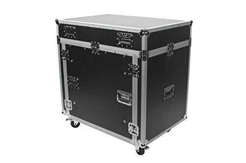 OSP Cases | ATA Road Case | Rack and Mixer Case for PreSonus StudioLive 2442 Digital Mixer | (16u Shock)