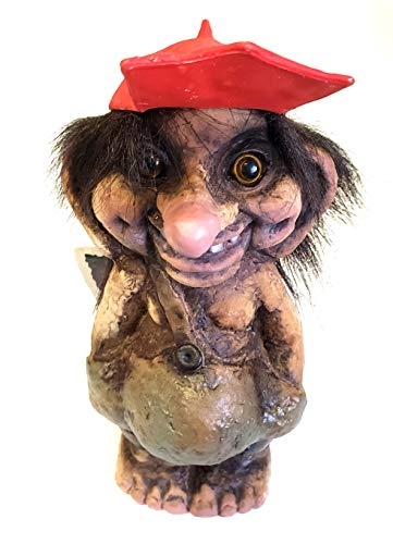 Nyform Original Norwegian Troll in Red Baseball Cap Hat