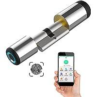 Fingerprint Deurcilinder, 60 mm, 30/30 vingerafdruk en bluetooth-app, geopend, snel te installeren, geschikt voor de…