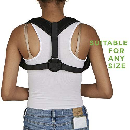 Mind Reader Posture Corrector for Men and Women - Adjustable Upper Back Brace for Clavicle Support - Provides Pain Relief from Neck, Back & Shoulder - Improves Posture