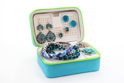 (Lori Leigh Design Womens Mini Chalet Travel Jewelry Box (Blue))