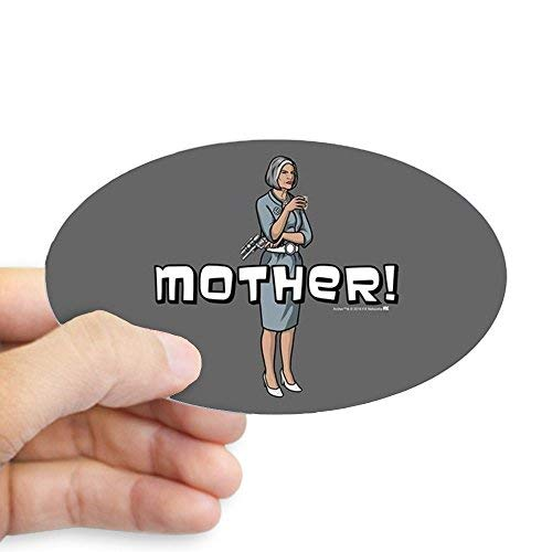 - Alfr553Meg Funny Self Adhesive Stickers Archer Mother Bumper Stickers Car Truck Tumbler Decal Novelty Gifts for Moms Adults Gifts Men Women Mothers Day