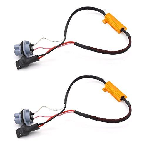 Meiyiu Led Load Resistors Connector 50W 8ohm 7440 Fix Turn Signal Bulb DRL Error Free Decoder 2Pcs by Meiyiu