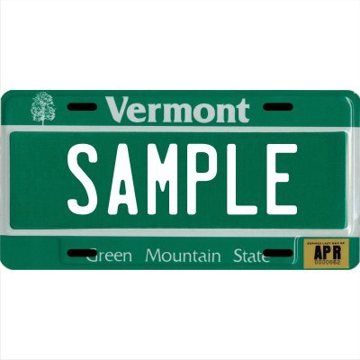 "Custom Personalized Metal License Plate Your Name Your State - Choose from All 50 States (Vermont, 6"" x 12"" Standard Thickness (.030""))"