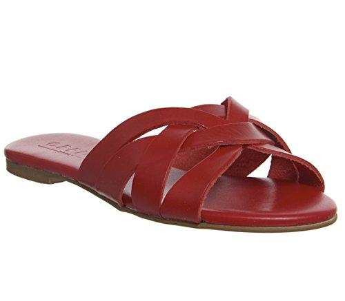 Safran rotem aus Sandalen Büro Mule Leder Sxqzww0