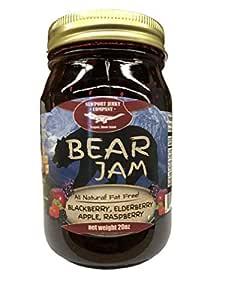 Newport Jerky Company Bear Jam. Blackberry, Elderberry, Apple, Raspberry (All Natural, Fat Free, Gluten Free)