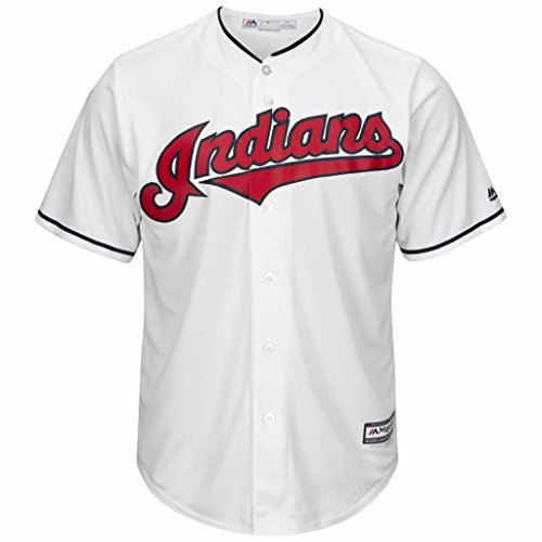 Cleveland Indians MLB Men's Big and Tall Cool Base Team Home Jersey White (2XT)