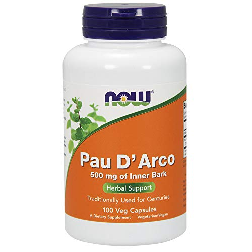 NOW Pau D'Arco 500 mg,100 Veg Capsules