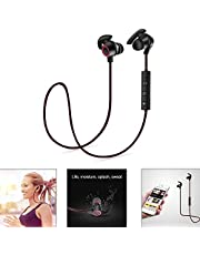 Bluetooth Headphones, Wireless Neckband Headset Bluetooth V4.1 Magnetic Hi-Fi Sports Earphones with Mic