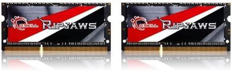 G.SKILL Ripjaws Series 16GB PC3L 12800 2x8GB 204-Pin DDR3 SO-DIMM DDR3L 1600 Laptop Memory Model F3-1600C9D-16GRSL