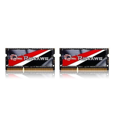- 41ir5i5XnWL - G.SKILL Ripjaws Series 16GB (2x8GB) 204-Pin DDR3 SO-DIMM DDR3L 1600 (PC3L 12800) Laptop Memory Model F3-1600C9D-16GRSL