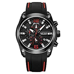 foreverwen Luminous Quartz Watch Fashion Casual Business Dress Wristwatch Waterproof Full Stainless Steel Analog Chronograph Three Time Keeping Indicator