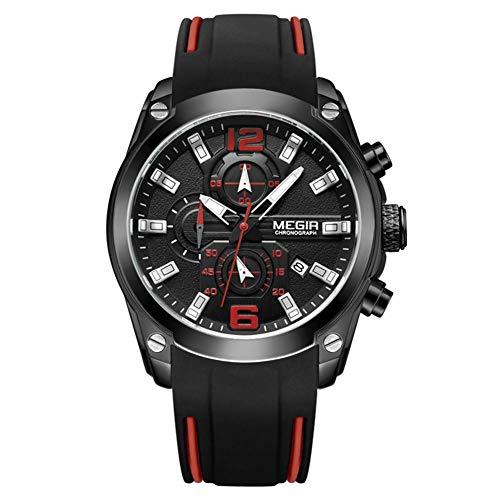 foreverwen Luminous Quartz Watch Fashion Casual Business Dress Wristwatch Waterproof Full Stainless Steel Analog Chronograph Three Time Keeping Indicator by foreverwen