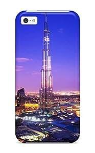 LVmWdow5501kloDp Hard shell Case Skin Protector For Iphone 5C Case Cover Burj Khalifa Tower Dubai With Nice Appearance
