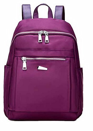 Nylon Daypack Viola Escursionismo Donna Zaini CCALBP180721 VogueZone009 Picnic Casuale Daypacks qBw7En6Hx