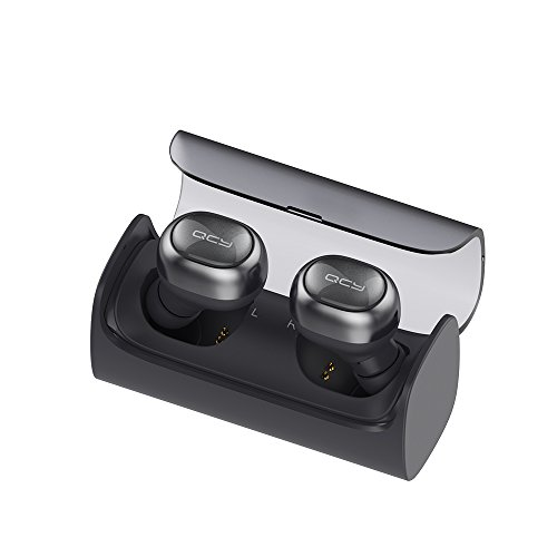 Click to buy QCY Q29 Wireless Headphones Mini Earphones Dual Bluetooth Earbuds with Portable Charging Case Stereo In-ear Sports Headset with Mic for iOS Android Smartphones (Black) - From only $59.99