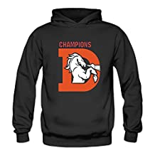 Women's Denver Broncos 2016 Super Bowl Champions Hoodies Funny L Black