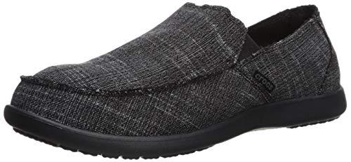 Crocs Men's Santa Cruz Slip-On Loafer Black, 8 M US Crocs Santa Cruz Men