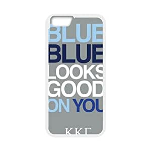 iPhone 6 4.7 Inch Cell Phone Case White KKG Blue Looks Good On You VIU032501