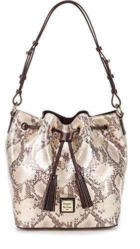 Dooney & Bourke Kitney Collection Serena Tasseled Snake Drawstring Bag