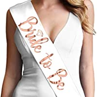 Bride to be sash Adjustable Maid of honor sash Bridesmaid sash Team Bride Engagement Party Favors Bachelorette Party Sash (White)