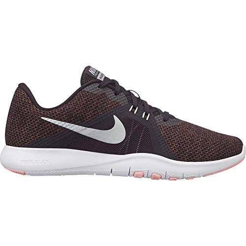 Nike Women's Flex TR 8 Training Shoe Burgundy Ash/Metallic Silver Size 7 M US