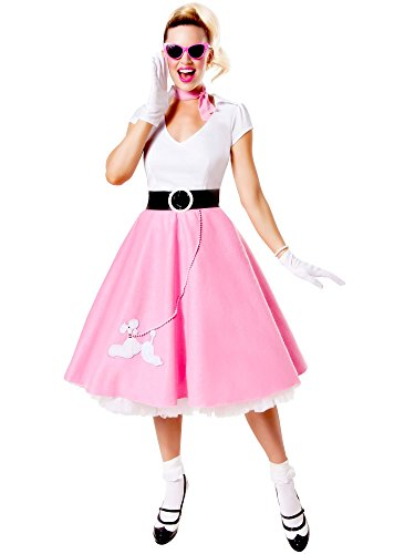 Classic 50s Adult Costume (Satin Poodle Dress Adult Costumes)